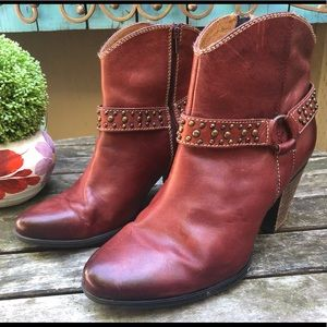 SOFFT Noreen red harness studded ankle boots